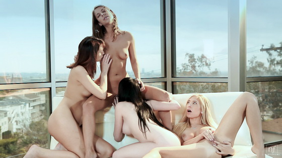 Ashton Haze, Katie Jordin, Presley Hart, Tasha Reign - Four Of A Kind
